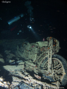 Motorbike inside the Thistlegorm. Canon G10. by Bea &amp; Stef Primatesta 